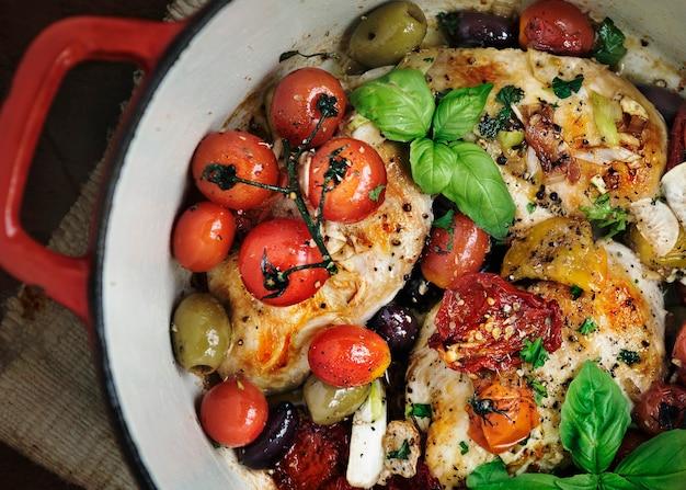 Идея рецепта фотографии еды из жареной курицы
