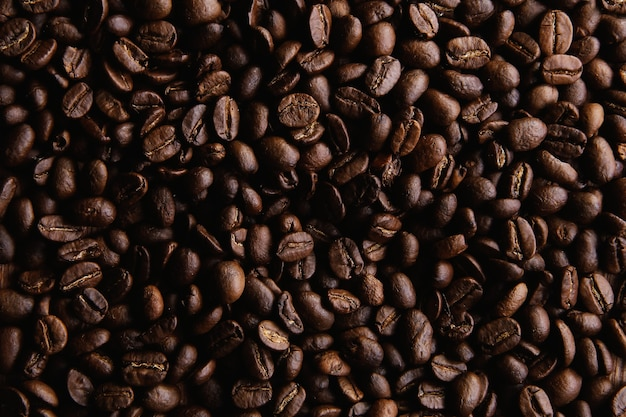Жареный кофе в зернах фон