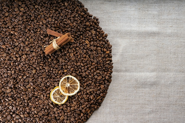 Roasted coffee beans, can be used as a background. coffee beans texture.