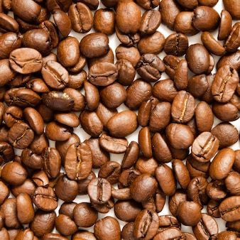 Roasted coffee beans, can be used as a background - image