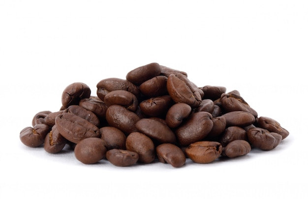 Roasted coffee beans studio shot isolated