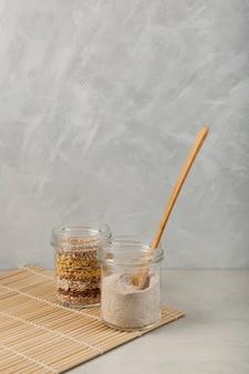 Roasted multigrain powder for making traditional misutgaru latte drink