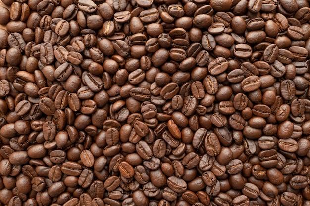 배경에 대 한 커피 콩 구이. 확대.