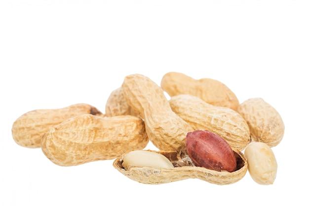 Roasted peanuts snack isolated