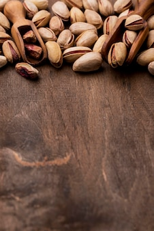 Spazio della copia dei pistacchi arrostiti