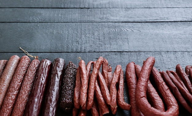 Roasted sausages