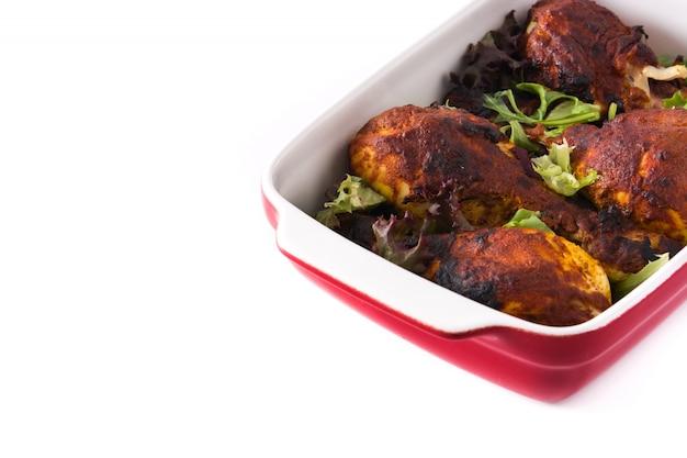 Жареная курица тандури с зеленью