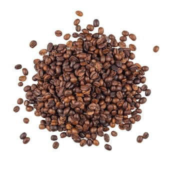 Roasted thai coffee beans texture background