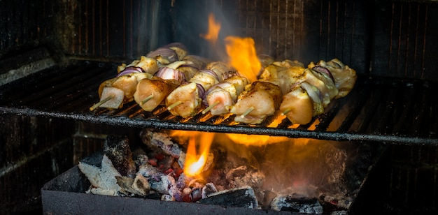 Roasting traditional romanian dish frigarui