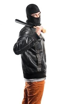 Robber playing baseball