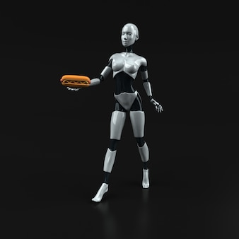 Робот - 3d иллюстрации