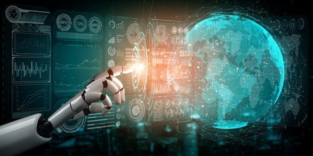 Робот анализирует бизнес-данные