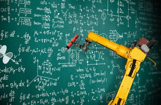 Ии-робот-манипулятор анализирует математику для решения проблем механизированной промышленности