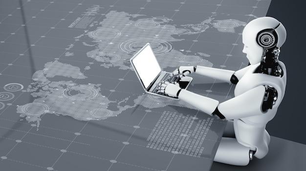 Робот технологии будущего искусственный интеллект искусственный интеллект машинное обучение