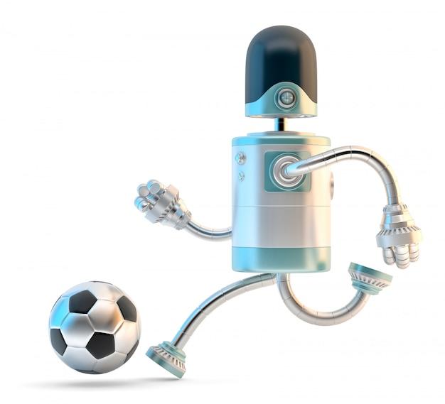 Robot playing football.