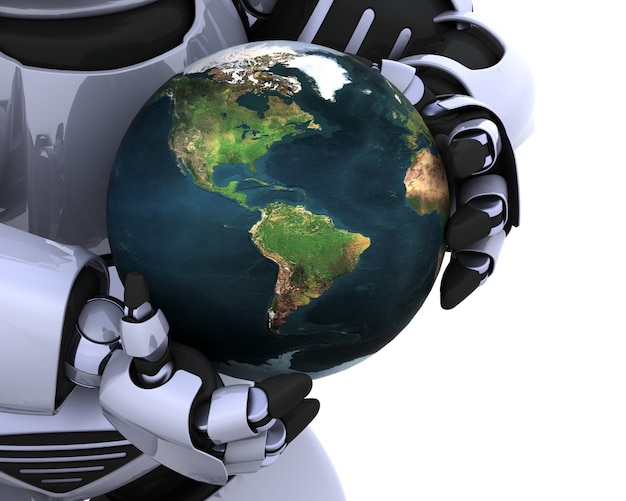 Robot protecting the earth