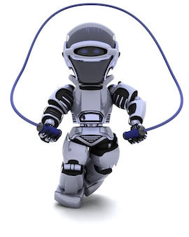 Robot skipping with a rope