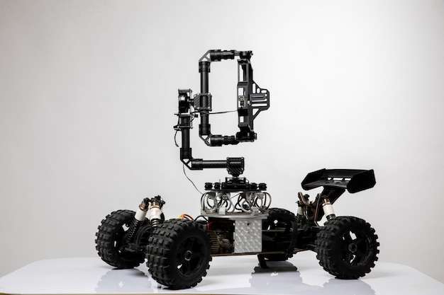 Robot style car with joystick