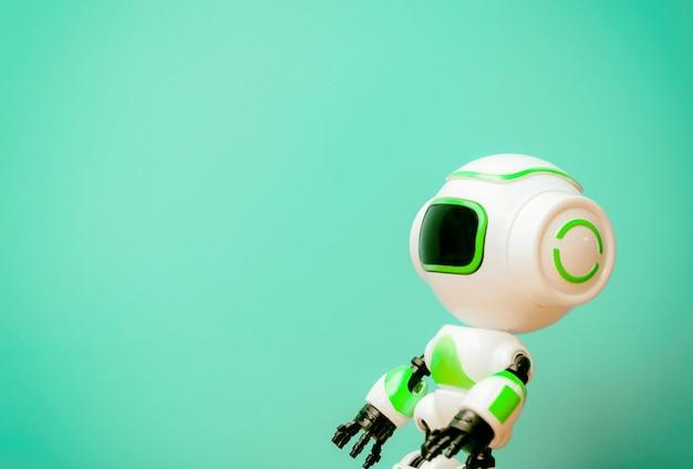 미래 배경 빈티지의 로봇 기술 인간 대체 작업