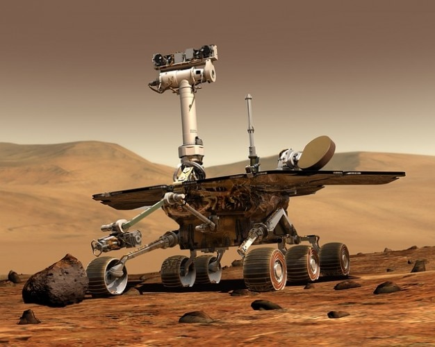 Robot travel  rover mars space