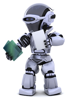 Robot with documents and folders