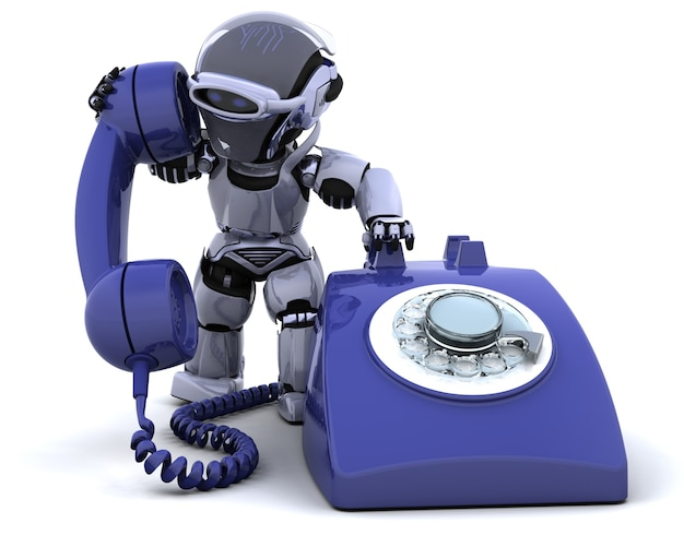 Robot with a phone