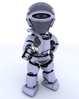 Robot with a reporter microphone