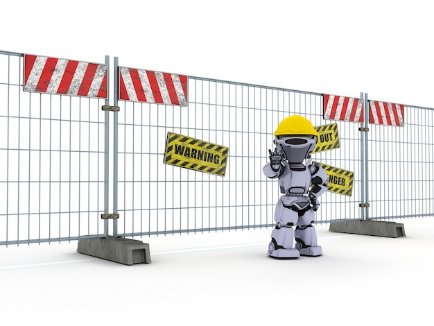 Robot working in construction