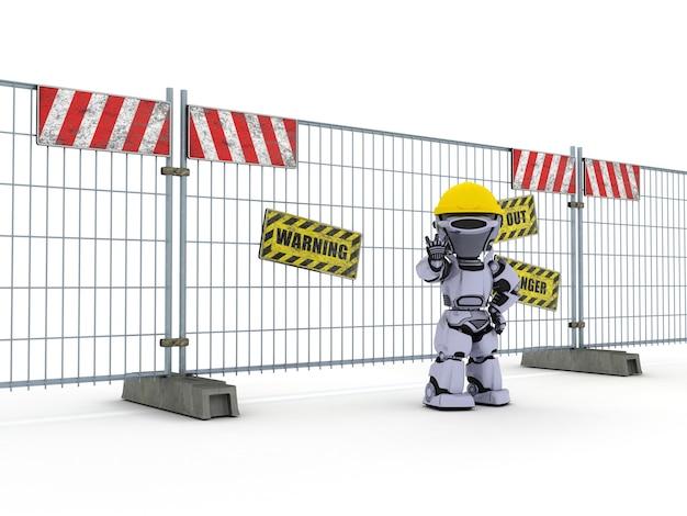 Робот работает в строительстве