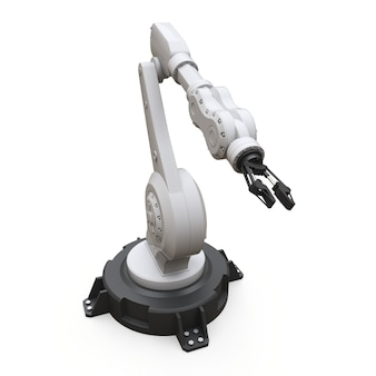Robotic arm for any work in a factory or production. mechatronic equipment for complex tasks