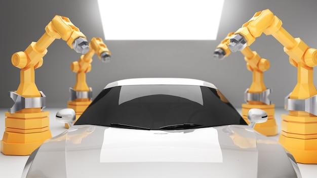 Robotic arms in electric vehicle manufacturing industryelectric vehicle manufacturing technology