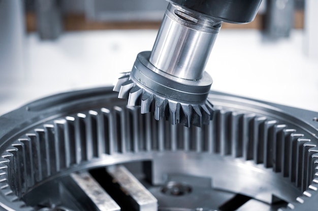 Robotic programmed robot arm. industrial exhibition of machine tools.
