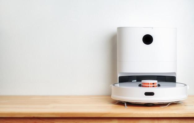 나무 바닥 스마트 청소 기술에 로봇 진공 청소기