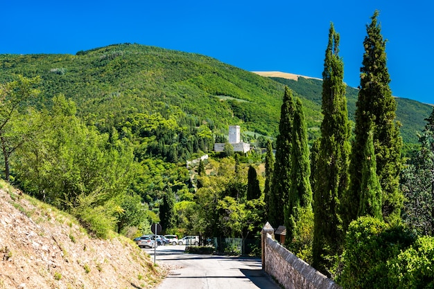 Rocca minore fort in assisi italy
