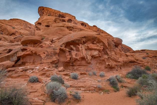 ネバダ州の岩の砂漠