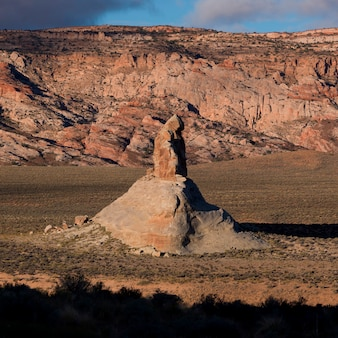Rock formations in a desert, utah, usa