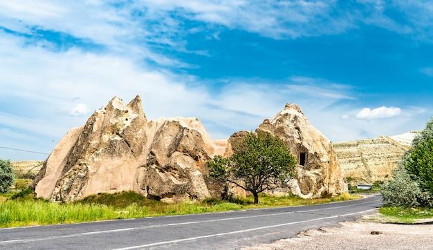 Rock formations of goreme valley in cappadocia, turkey
