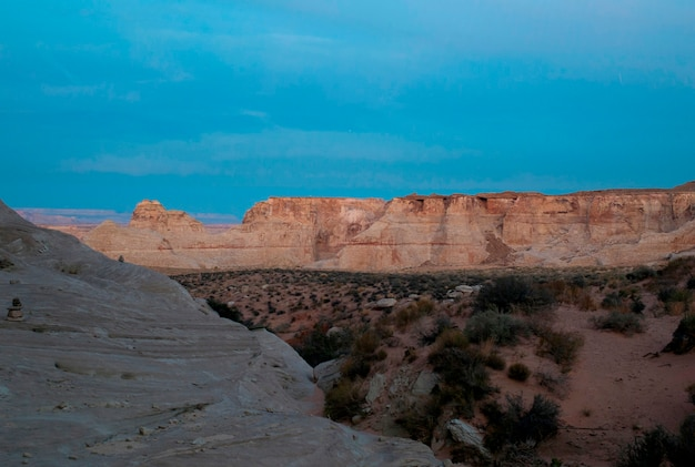 Rock formations on a landscape, amangiri, canyon point, utah, usa