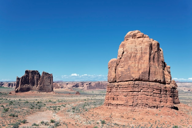 Rock formations, located in arches national park in moab, utah