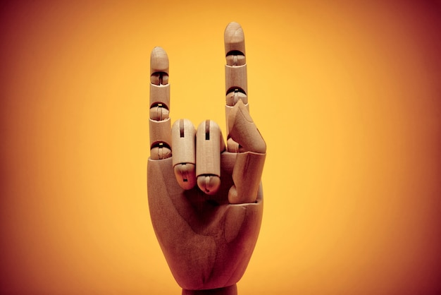 Rock on and gesture