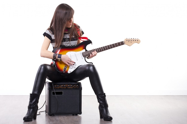 Rock guitar player