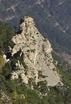 クリミアの山々の岩
