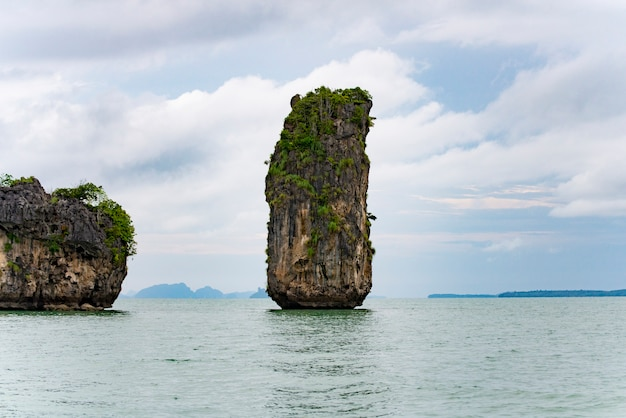 Rock island landscape  in the southern tip of thailand.