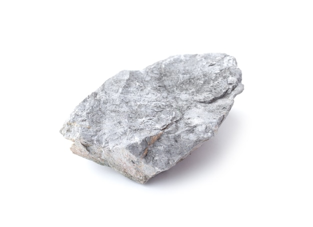 Рок, изолированные на белом фоне. серый камень изолированные