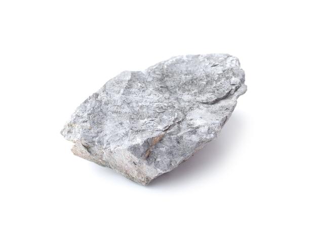 Rock isolated on white background. gray stone isolated