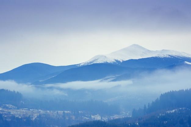 Rock massif in the carpathians