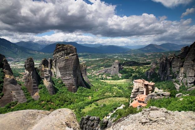 Rock in meteora, greece