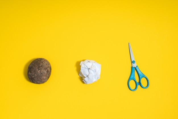 Rock, paper, scissors concept. choice, decision making.