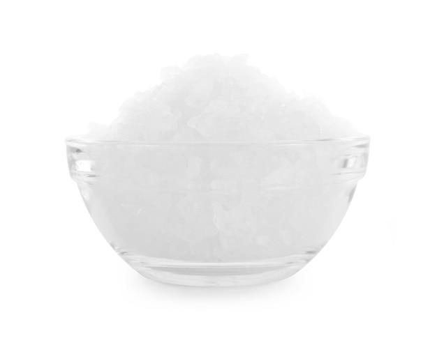 分離されたボウルの氷砂糖。