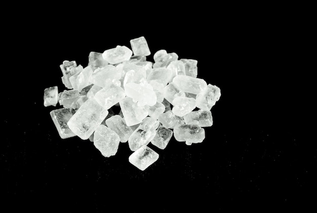 Сахар на черном